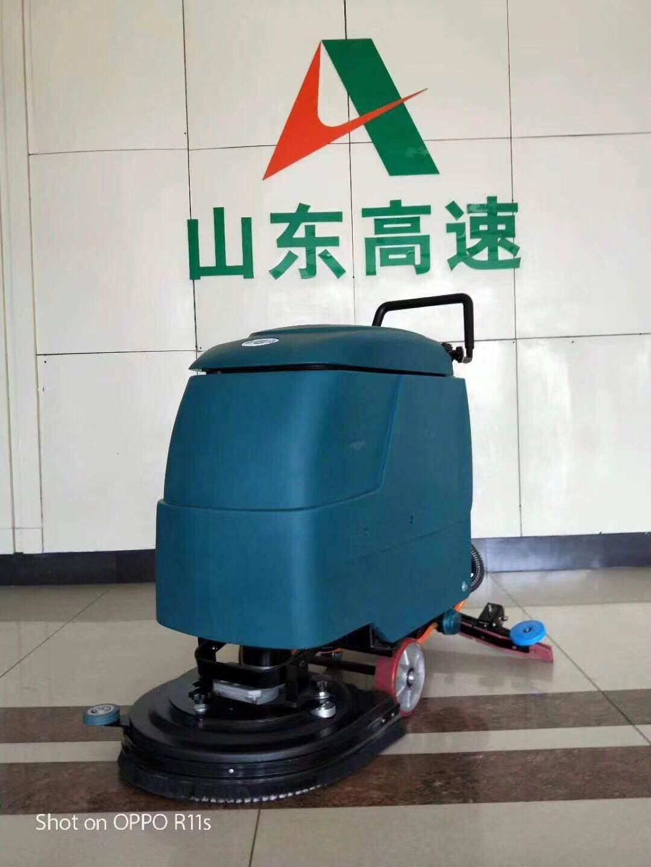 自动洗地机在地板砖地面的应用