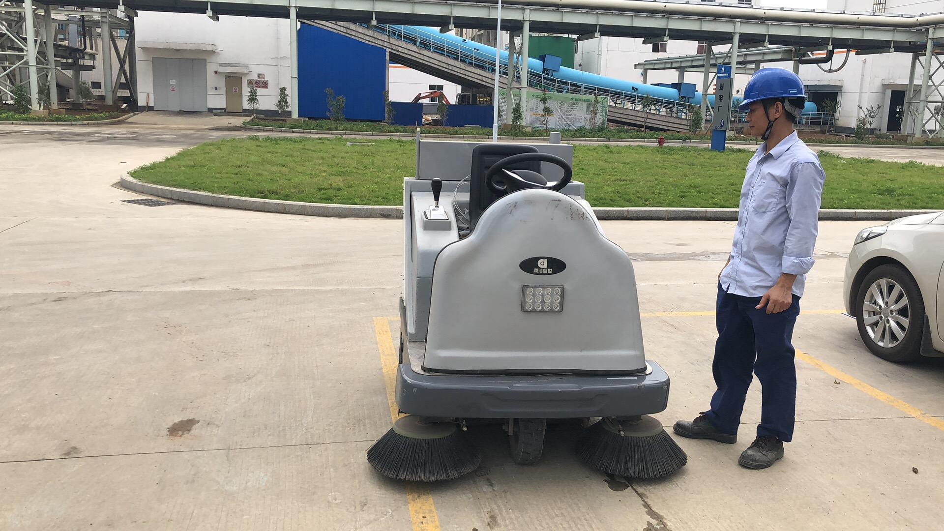驾驶式扫地车DJ1400发电厂客户